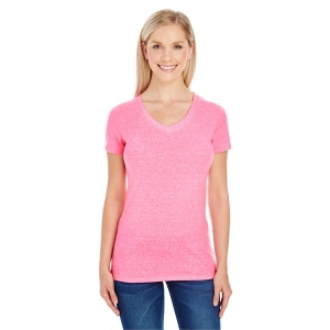 Threadfast Ladies' Triblend Short-Sleeve V-Neck T-Shirt