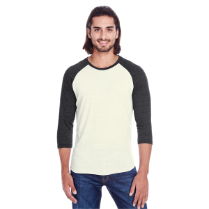 Threadfast Unisex Triblend 3/4-Sleeve Raglan