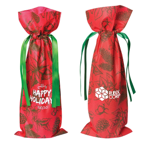 Holiday Non Woven Wine Bag