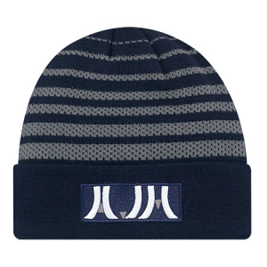 Striped Acrylic Cuff Toque